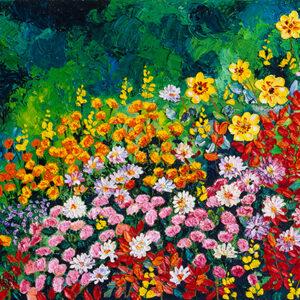 I Dream of Flowers Poster by Kathleen Karlsen