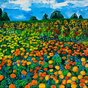 Meadow of Gold Poster by Kathleen Karlsen