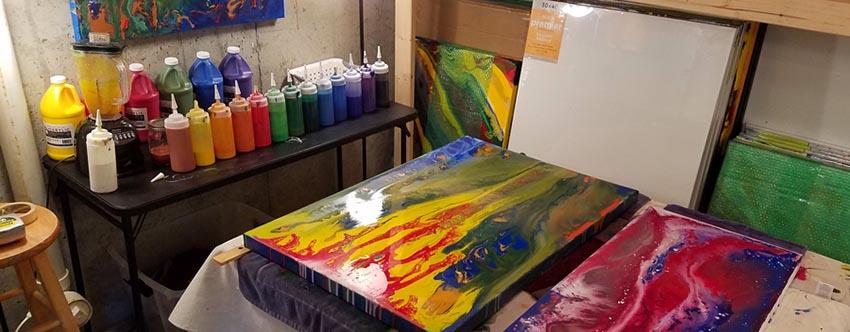 Artwork in Kathleen Karlsen's Art Studio