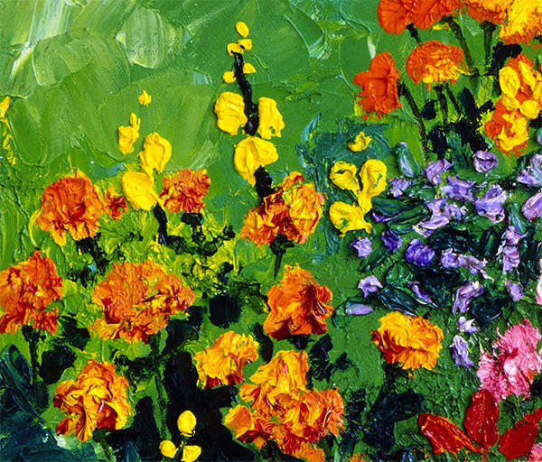 Marigolds Detail Dream of Flowers Canvas