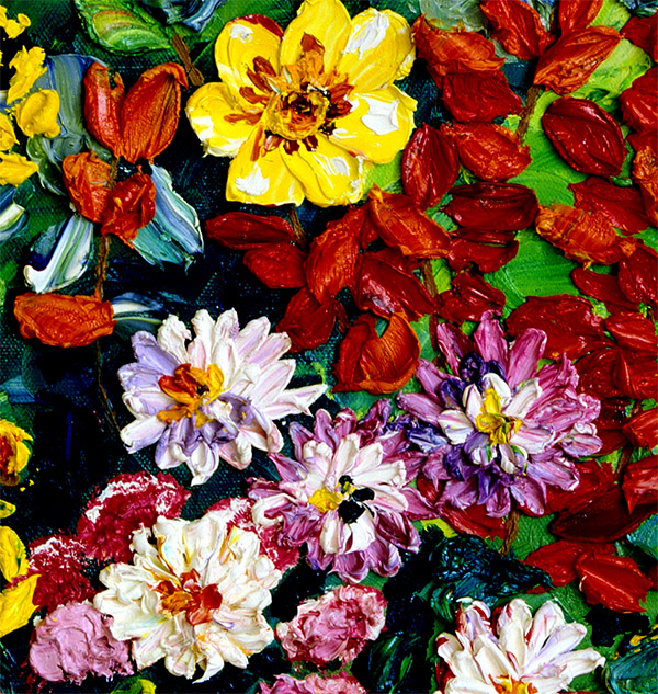 Mixed Flowers Detail Dream of Flowers Canvas