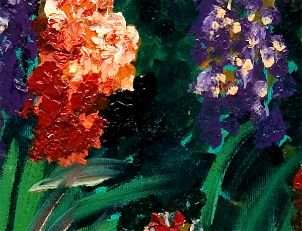 Two Flowers Detail Asia's Treasures Canvas Print