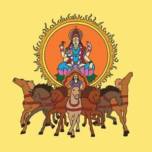 Yoga Symbol Art Featuring Surya